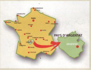 Die Lage von Argentat in Frankreich
